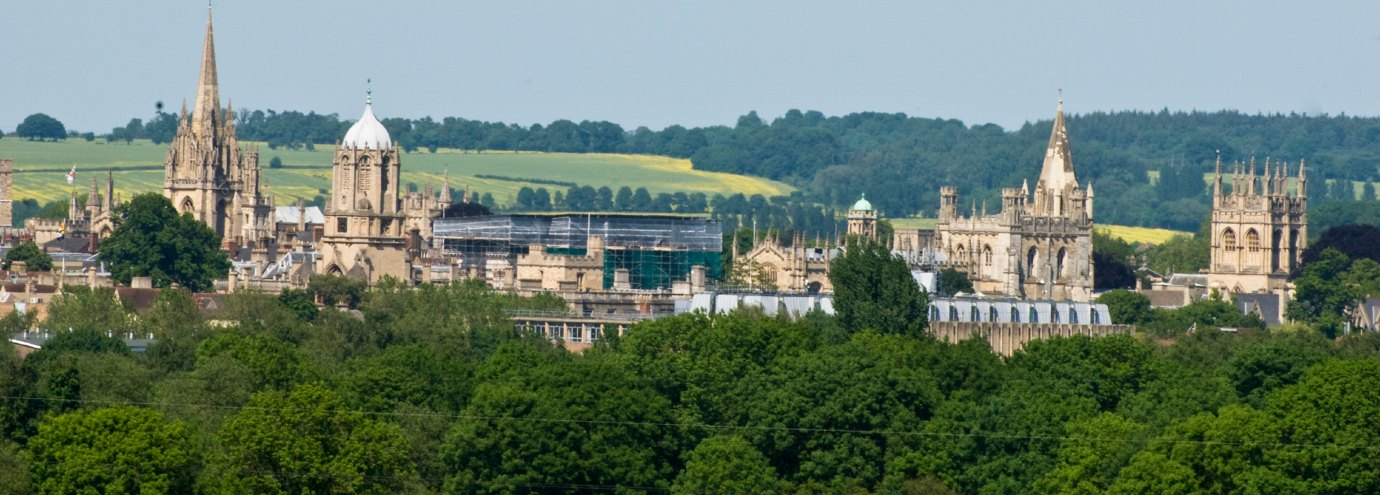 Oxford spires seen from a distance